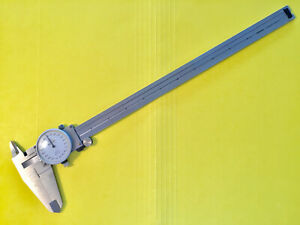 Mitutoyo 12 Inch Dial Caliper No 505 628 Original Owner Good Condition