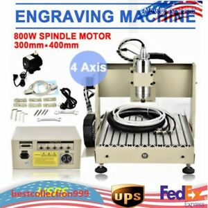 800w Usb 4axis 3040 Router Engraver Diy 3d Wood Pcb Engraving Milling Machine