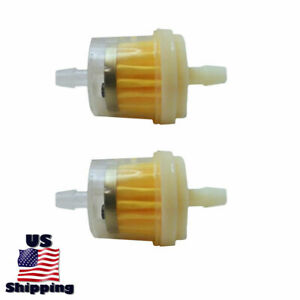 2 Inline Fuel Filter For Champion 3650 100216 100222 46511 46506 46556 Generator