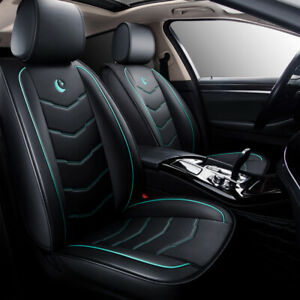 Us Moon Black Green Car 5 Seat Leather Seat Cover For Nissan Altima Sentra Rogue