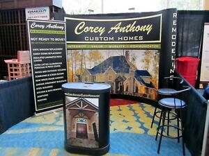 10 Foot Curved Pop Up Full Mural Graphic Trade Show Display Backdrop