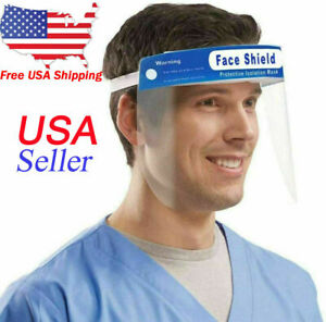 10 Pack Safety Full Face Shield Clear Protector Work Industry Dental Anti fog