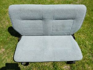 Suzuki Samurai Oem Big Back Seat High Gray Cloth Rare Excellent Condition