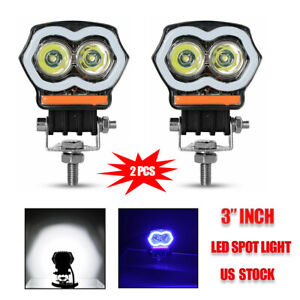 2x 3inch 4000lm Led Work Light Cube Pods Driving Work Fog Spot Light Flood 12v