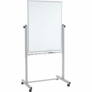 Mobile Double Sided Magnetic Whiteboard 30 w X 40 h