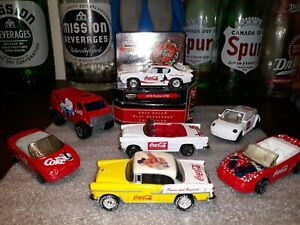 Lesney matchbox 1999 coca cola lot of 7 cars GTO mix all Mint flawless!!!