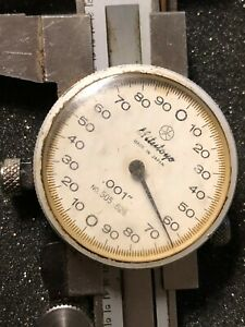 Mitutoyo 6 Inch Dial Caliper No 505 626 Hardened Stainless W Case 6 Japan