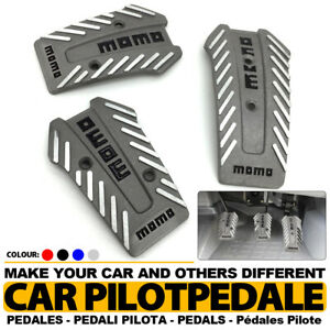 Silver Universal Manual Mt Racing Sport Truck Car Non slip Pedals Pad Covers Set