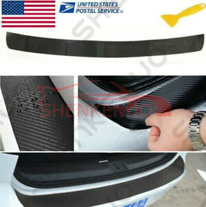 4d Carbon Fiber Style Car Rear Boot Bumper Guard Sticker Cover Protector Panel