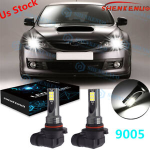 Led High Beam Daytime Running Light Bulbs Drl For Subaru Impreza Wrx Sti Legacy