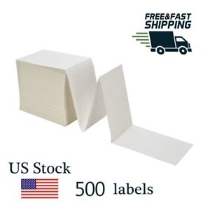 500 Direct Thermal Labels 4x6 Fanfold Shipping Barcode Labels For Zebra 2844 Ups
