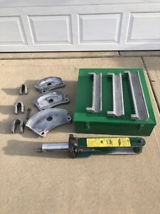 Greenlee No 882 1 1 4 Thru 2 Emt Flip Top Hydraulic Bender In Case