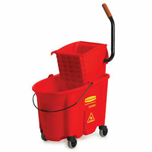 Rubbermaid Wavebrake Side Press Mop Bucket Wringer Combo