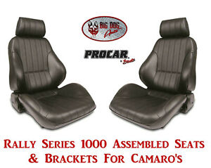 Scat Rally Series 80 1000 51 Seats Brackets Set For 1967 2002 Chevy Camaro