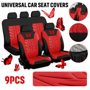 Auto Seat Cover Butterfly Car Truck Suv Van Universal Protectors Front