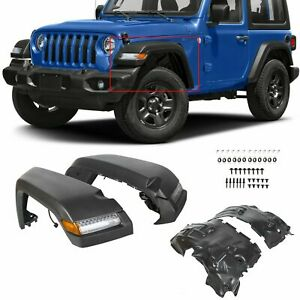 For 2018 2019 2020 Jeep Wrangler Jl Rubicon Fender High Top Flares Front 4pcs