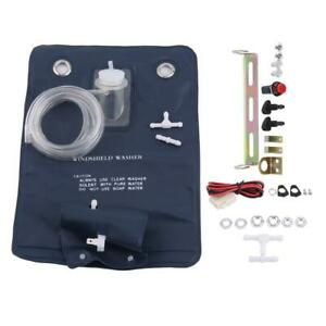 12v Car Universal Windshield Washer Pump Bag Kit W Jet Button Switches