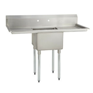 1 One Compartment Commercial Stainless Steel Prep Pot Sink 52 X 25 5