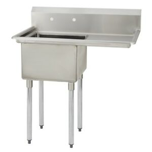 1 One Compartment Commercial Stainless Steel Prep Pot Sink 38 5 X 23 8
