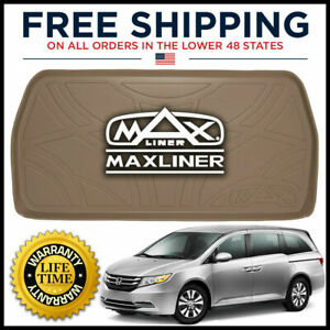 Maxtray All Weather Cargo Liner Mat Behind 3rd Row Tan For 2011 17 Honda Odyssey