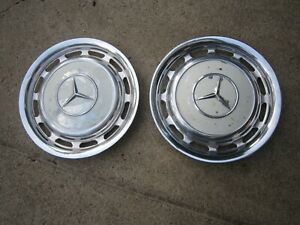 Vintage Mercedes Benz Original Hubcaps Hub Caps Wheel Covers Wheelcovers Pair