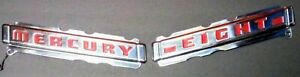 Nos 1 Pair 1946 1947 1948 Mercury Trunk Emblems Mouldings