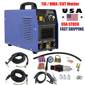 3in1 Ct312 Tig Mma Cut Air Plasma Cutter Welder Welding Cutting Machine Ac 110v