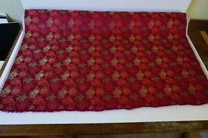 Antique Vintage Bolt Chinese Silk Woven Brocade Fabric 4 Yards Chrysanthemum