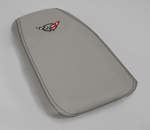 1997 2004 Corvette C5 Light Pewter Leather Console Cushion Cover 636501582976