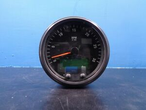 Brand New 3k Rear Run Tachometer Assembly 5 Round With Hour Meter 0 3000rpm