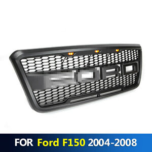 Front Bumper Hood Grille Conversion With Led Fits For F150 2004 2008