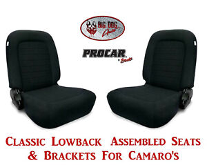 Scat Classic Series 80 1550 61 Seats Brackets Set For 1967 2002 Chevy Camaro