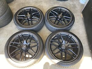 20 Mercedes S63 S65 S class Oem Original Wheels Rims Michelin Tires 85599 85600