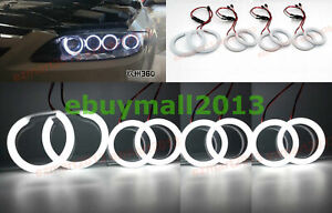 Cotton Wh 8 Halo Rings For Mazda 6 Speed6 Ms6 2002 2008 Headlight Angel Eyes Drl