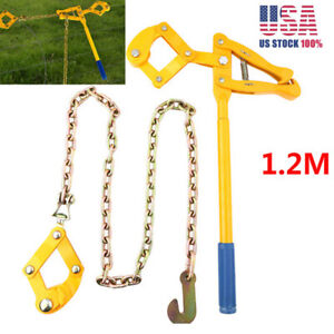 Chain Strainer Cattle Barn Farm Fence Stretcher Tensioner Repair Barbed Wire 4ft