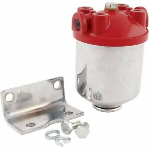 Allstar Performance All40250 Fuel Filter Chrome Canister