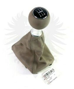 Genuine Oem Audi A4 A6 8e0 5 Speed Kamut Beige Leather Chrome Shift Knob Boot