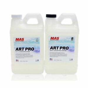Mas Art Pro Epoxy Resin Hardener Two Part Art Resin Features Uv Inhibitio
