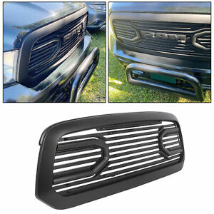 Big Horn Black Package Grille Replacement Shell For 13 18 Dodge Ram 1500