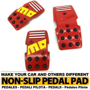 Universal Manual Mt Racing Sport Truck Car Non Slip Pedals Pad Covers Set Red