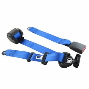 1pc For Gmc Cars Vehicle Blue 3 Point Fixed Safety Belt Adjustable Seat Belt