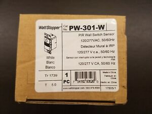 Wattstopper Pw 301 w Pip Wall Switch Sensor 120 277 V 50 60 Hz White