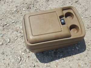 80 91 Ford Truck Center Console Without Key F150 F250 Bronco Oem Brownish