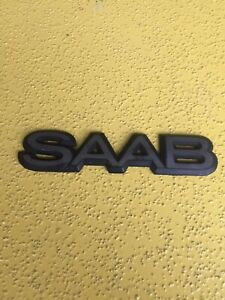 Saab 96 97 99 900 600 9000 Rear Trunk Lid Emblem Badge Symbol Logo Oem