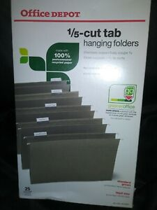 Office Depot Brand Hanging Folders 1 5 Cut Legal Size Green 25 pk