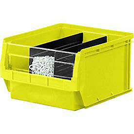 Quantum Magnum Plastic Stackable Storage Bin 12 3 8 X 19 3 4 X 5 7 8 Yellow