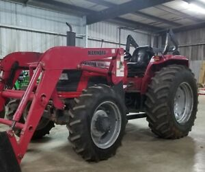 65 Hp Diesel 4wd Mahindra 6530 Tractor W Front End Loader 4x4