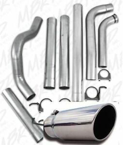 Mbrp 4 Exhaust For 01 10 Duramax 6 6l Lb7 Lly Lbz Lmm Aluminized With Tip