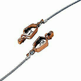 Two Alligator Clips W 3 Ft 7x19 Stranded Flex Steel Cable Gcsp aa 03