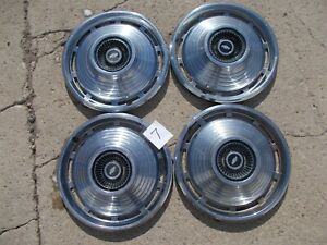 4 Vintage 1964 Chevrolet Hubcaps Impala Belair Biscayne Corvair Chevy Chev 14
